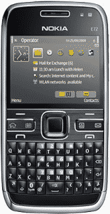 Nokia E72 front side