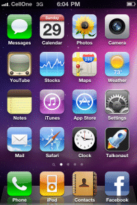 iPhone 4 with Cellone 3G